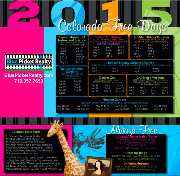 Free things to do in Colorado 2015