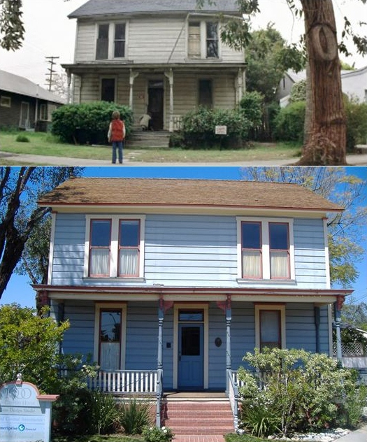 Famous Movie Houses: The Myers Home from Halloween Then and Now