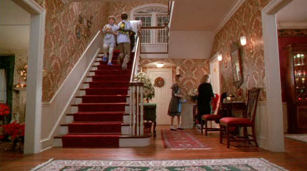 Famous Movie Houses: Home Alone Stairs Then